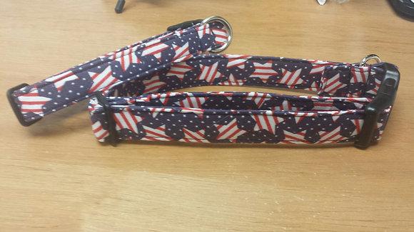 Star Flags Buckle Collar