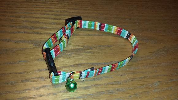 Multi-color Stripe Cat Break-a-way Collar