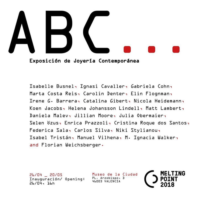 ABC exhibition during MELTING POINT in Valencia, Spain