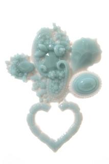 celadon blue brooch