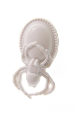 white spider brooch