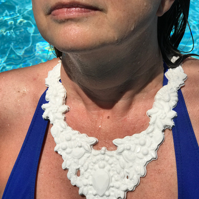 white silicone necklace
