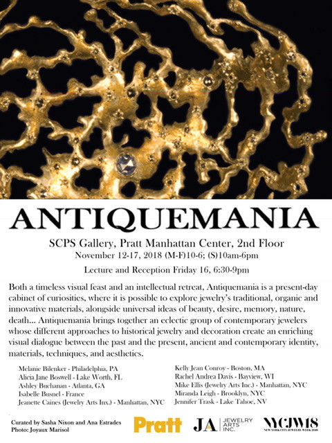 ANTIQUEMANIA exhibition during New York City Jewellery Week
