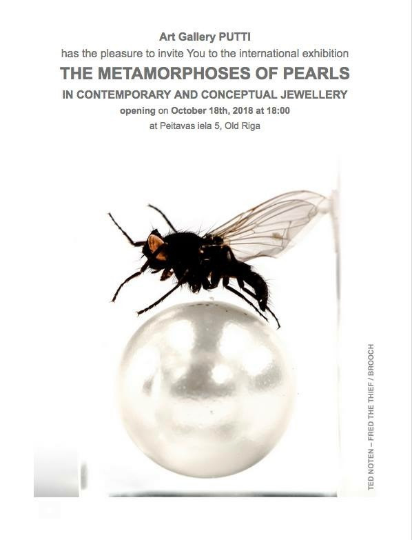 Metamorphose of Pearls exhibition at Art Gallery Putti in Riga