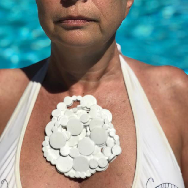 silicone flat pearls brooch