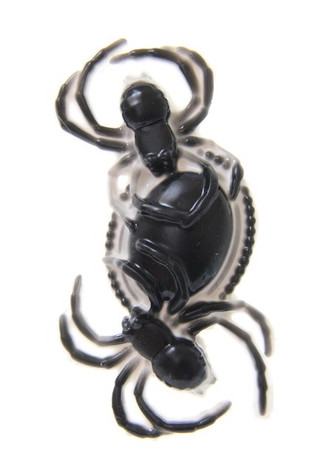 black and white spider brooch