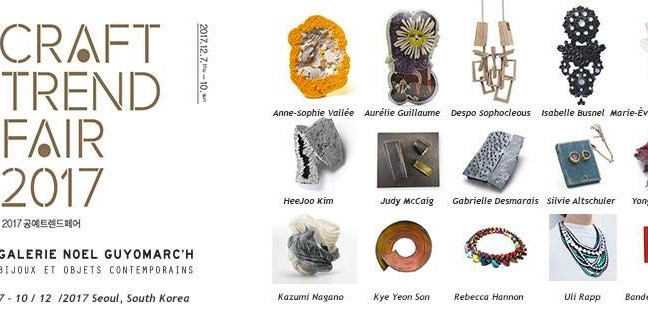 SOFA CHICAGO and  CRAFT TREND FAIR SEOUL with Gallerie Noel Guyomarc'h