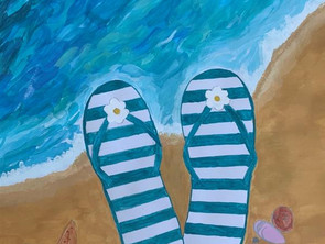 Sonne, Sand und Meer – Arbeiten aus dem Kunstunterricht