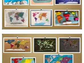 Meine selbst gebastelte Weltkarte