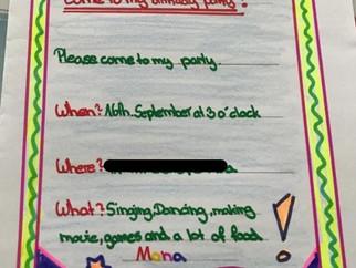 Einladungen auf Englisch