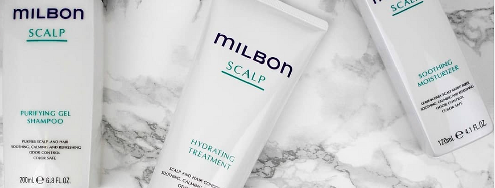 MILBON Scalp Purifying Gel Shampoo & Hydrating Treatment 6.8oz/7.1oz