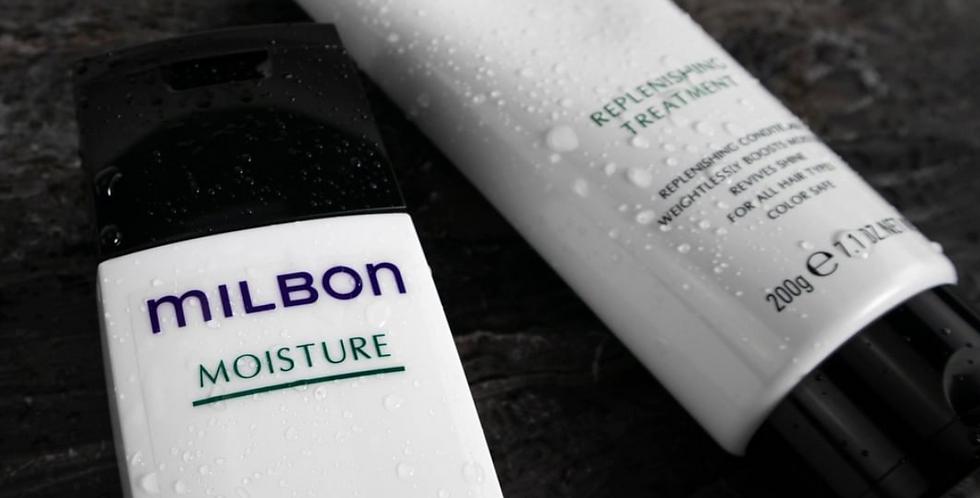 MILBON Moisturize  Replenishing Shampoo & Treatment 6.8oz/7.1oz
