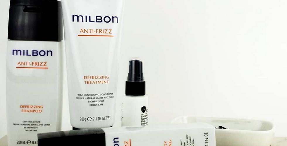 MILBON Anti-Frizz Defrizzing Shampoo & Treatment 6.8oz/7.1oz