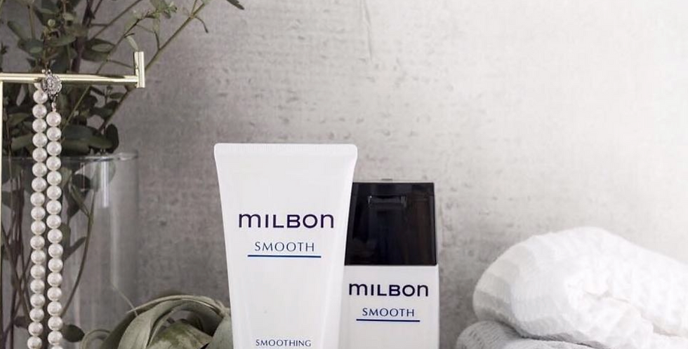 MILBON Smoothing Shampoo & Treatment Coarse Hair 6.8oz/7.1oz