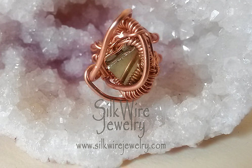 Pyrite Copper Ring
