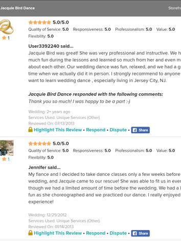 Wedding Dance Reviews of Jacquie Bird 6