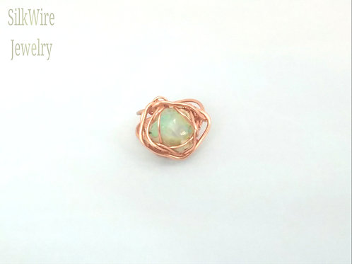 Unisex Opal Copper Ring