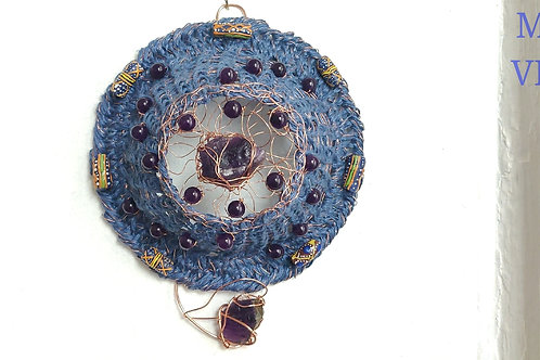 The SoThe Song of Amethyst & Krobo Mandala Wall Art home decorng of Amethyst & Krobo Mandala Wall Art home decor