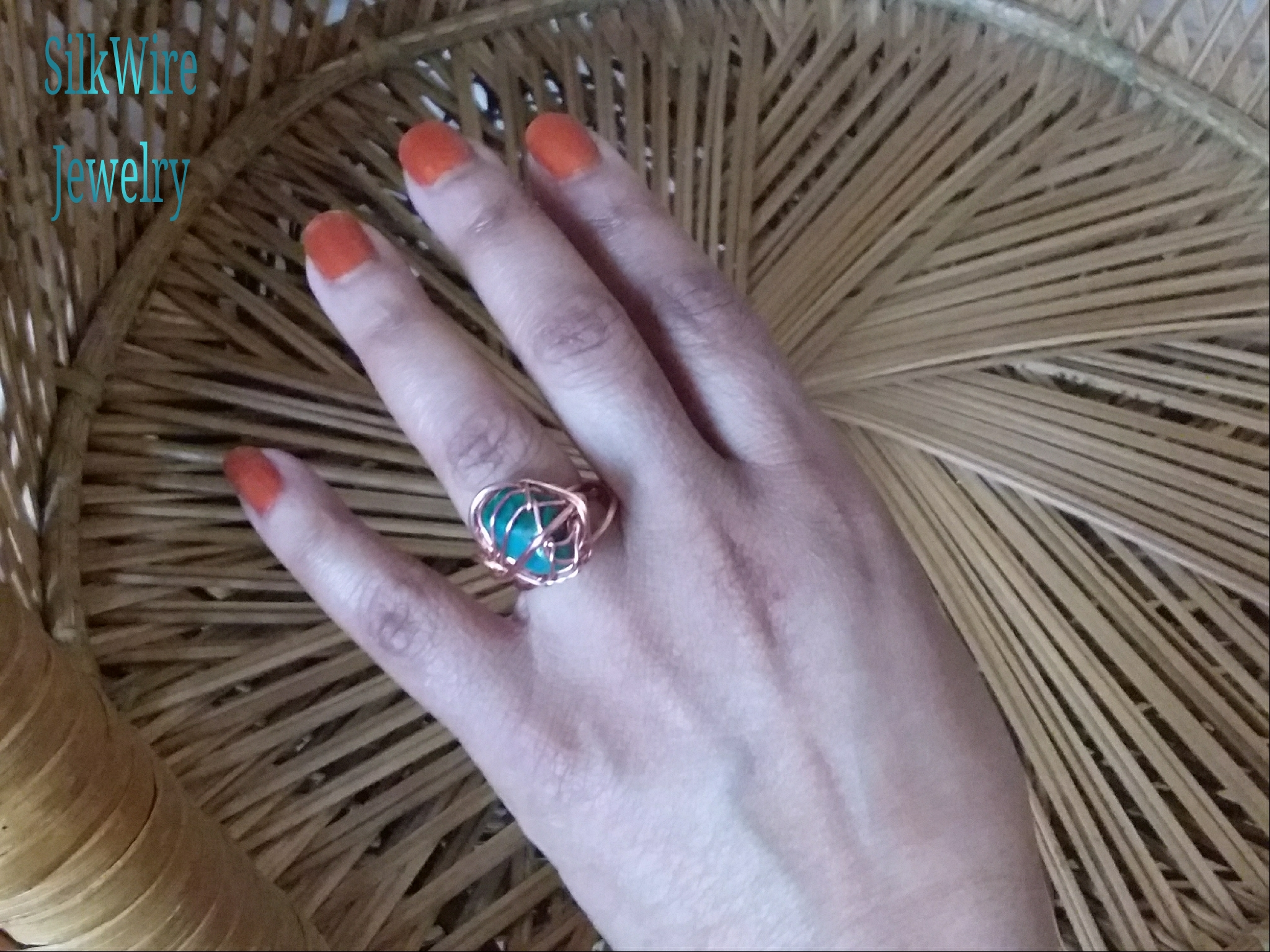 Amazonite Ring by SilkWire Jewelry