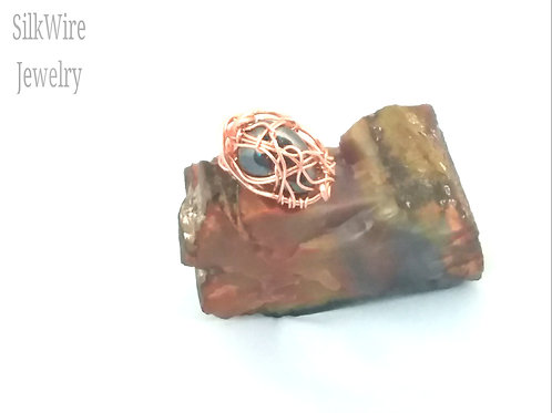 Hematite Copper Ring