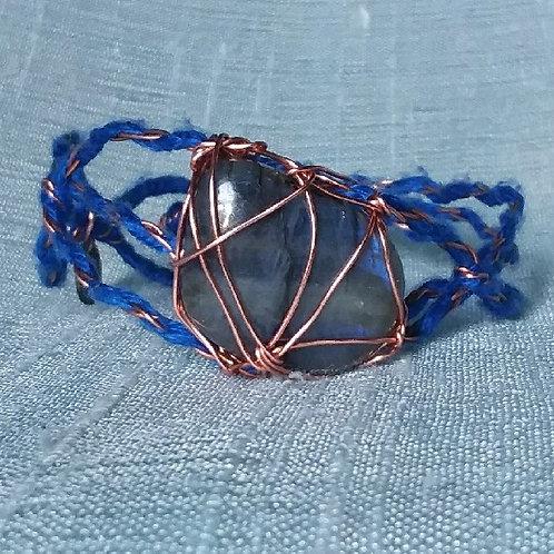labradorite silk copper bracelet