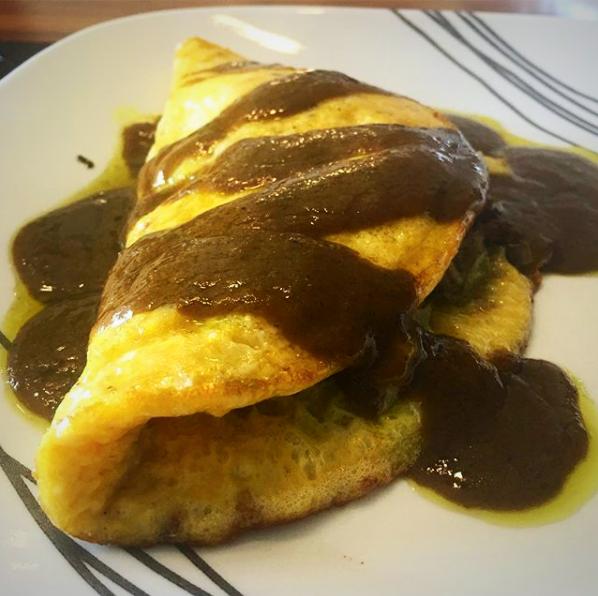 Omelette de Alcachofa y Calabaza con Vinagreta