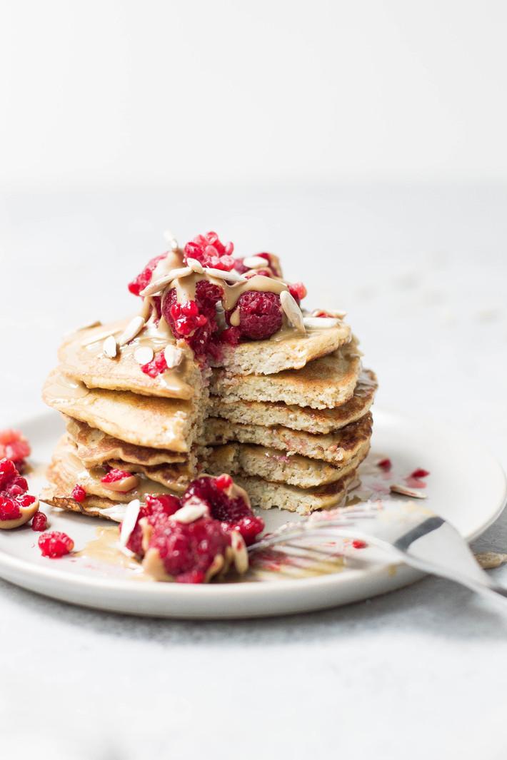 Pancakes de Plátano con Toppings