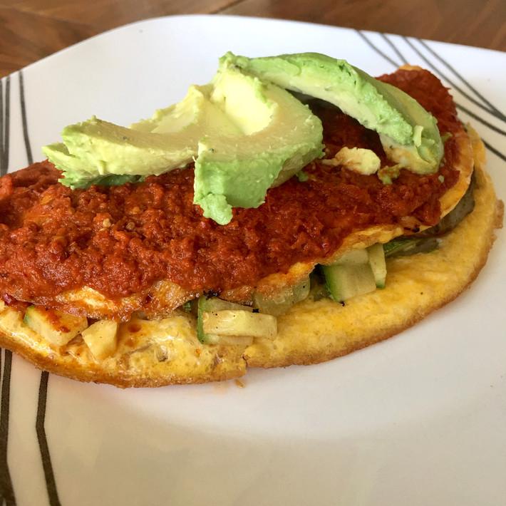 Omelette de Alcachofa y Calabaza