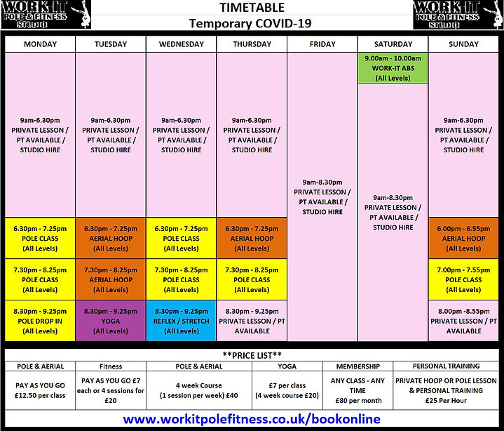 WORK-IT COVID-19 TIMETABLE JUNE 2021 v2.