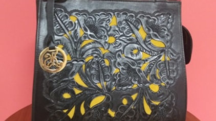 Hand Carved Leather Purse