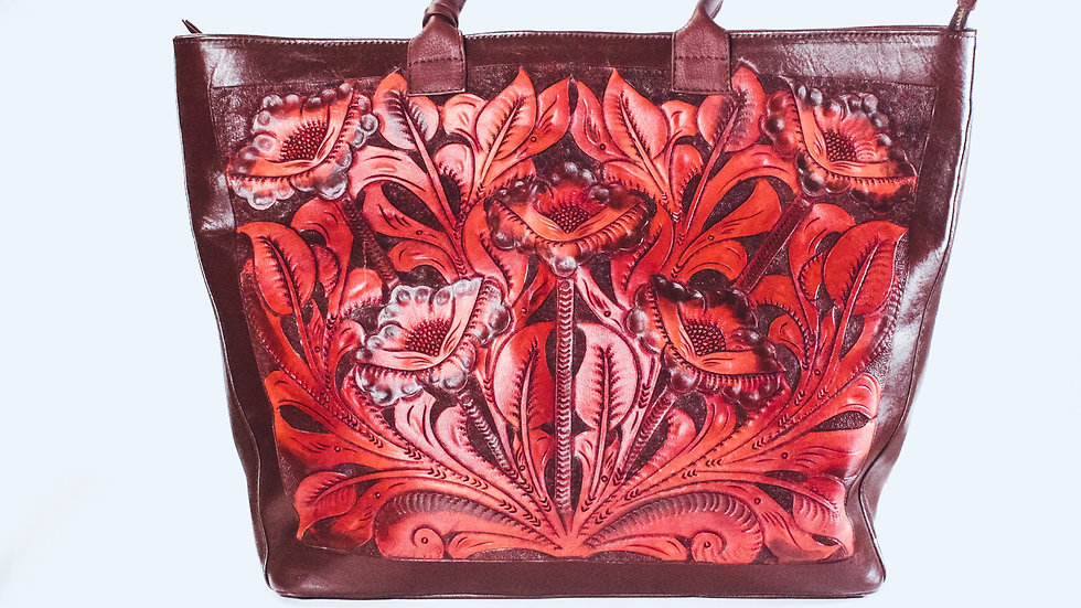 Large Purse Hand Carved