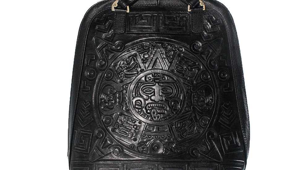 Black Aztec Back Pack /Purse