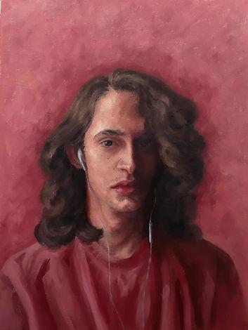 Auto retrato, óleo sobre tela, 20 x 30 cm