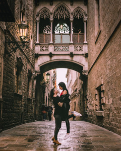 Pont del Bisbe in Gothic Quarter - Barcelona, Spain | On Airplane Mode