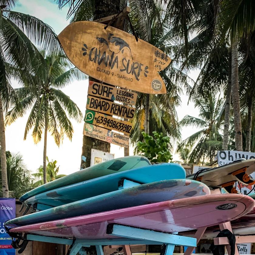 Chana Surf Shop on Siargao Island | On Airplane Mode