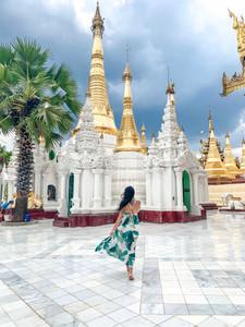 Shwedagon Pagoda in Yangon, Myanmar   On Airplane Mode