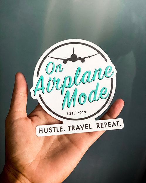 On Airplane Mode Stickers