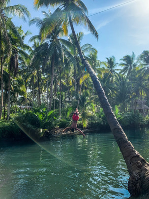 Local Jumping From Rope Swing in Siargao Island | On Airplane Mode