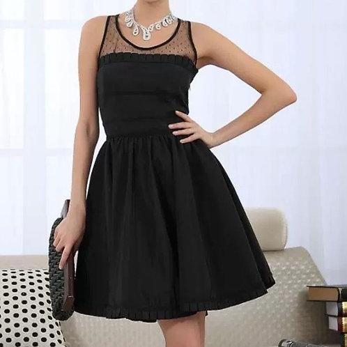 Mesh Babydoll Sleeveless Dress