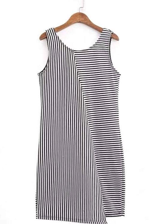 Sleeveless Knit Style Dress