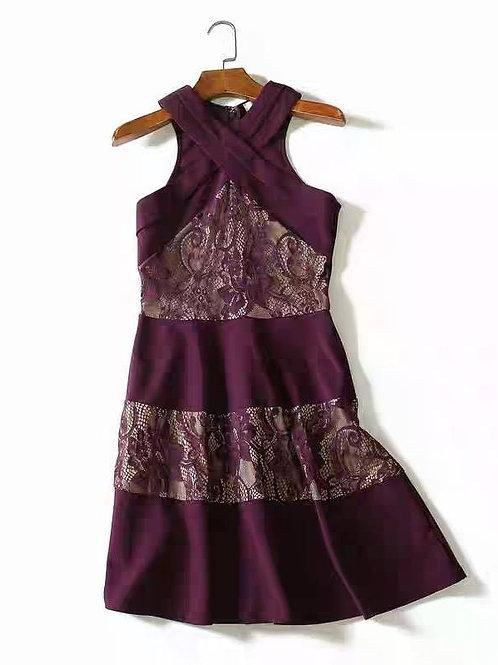 Lace Stitch A-Lined Dress