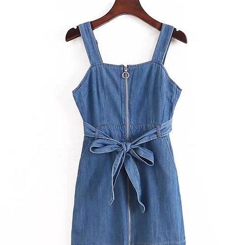 Denim Zipper Dress