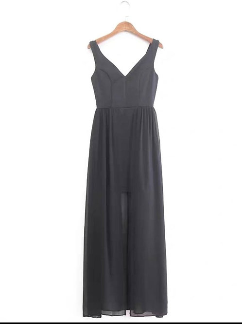 Maxi Mesh Dress in Black