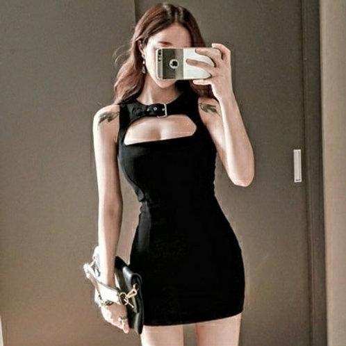 Mini Sleeveless Dress in Black