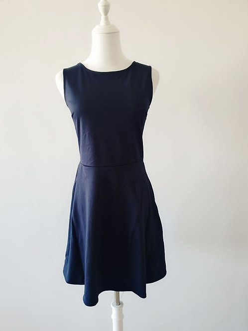 Cutout Back Dress in Black