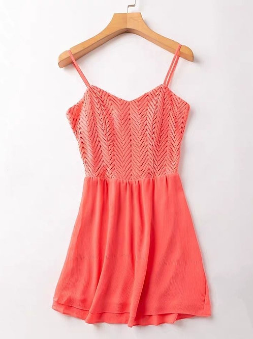Back Cut Out Dress with Back Zipper