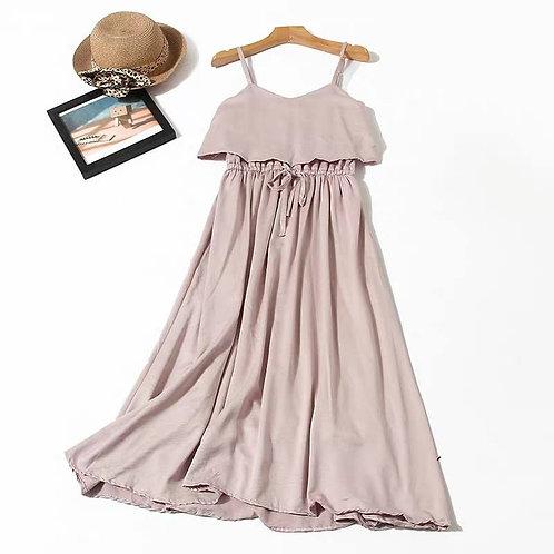 Strappy Layer Midi Dress