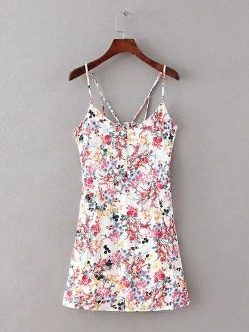 Floral Cut Out Dress