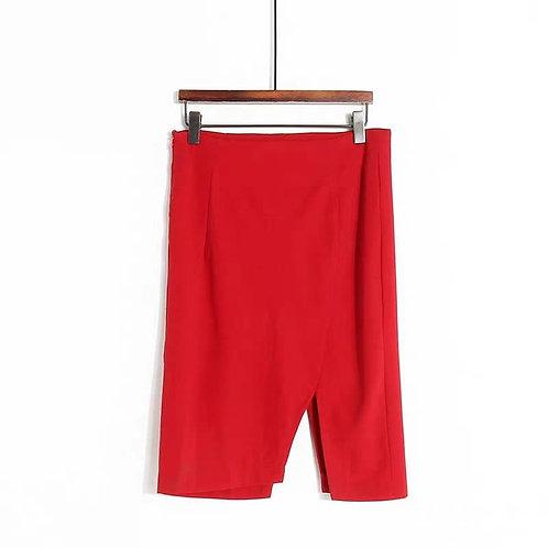 Tight Midi Skirt with Slit