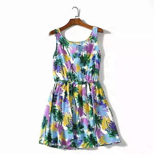 Floral Tie Back Dress